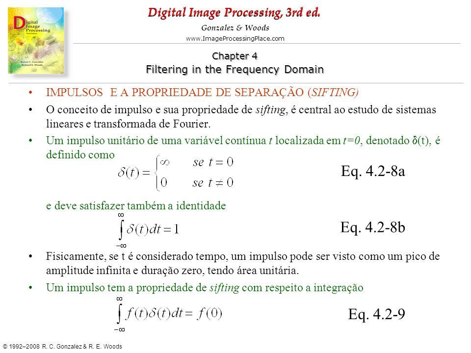 IMPULSOS E A PROPRIEDADE DE SEPARAÇÃO (SIFTING)