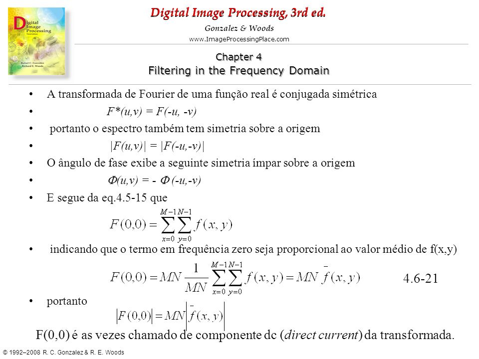 A transformada de Fourier de uma função real é conjugada simétrica