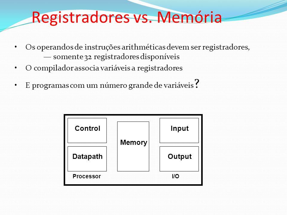 Registradores vs. Memória