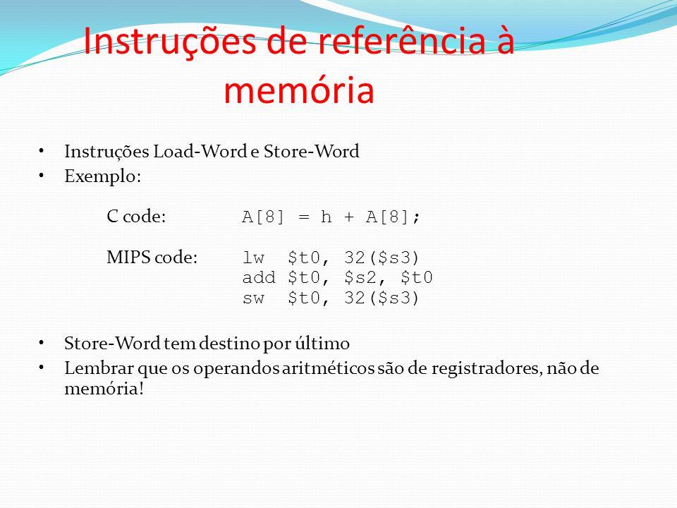 Instruções de referência à memória