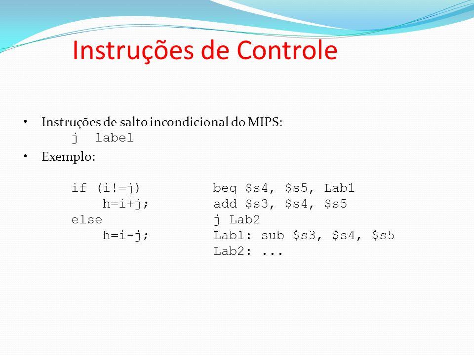 Instruções de Controle