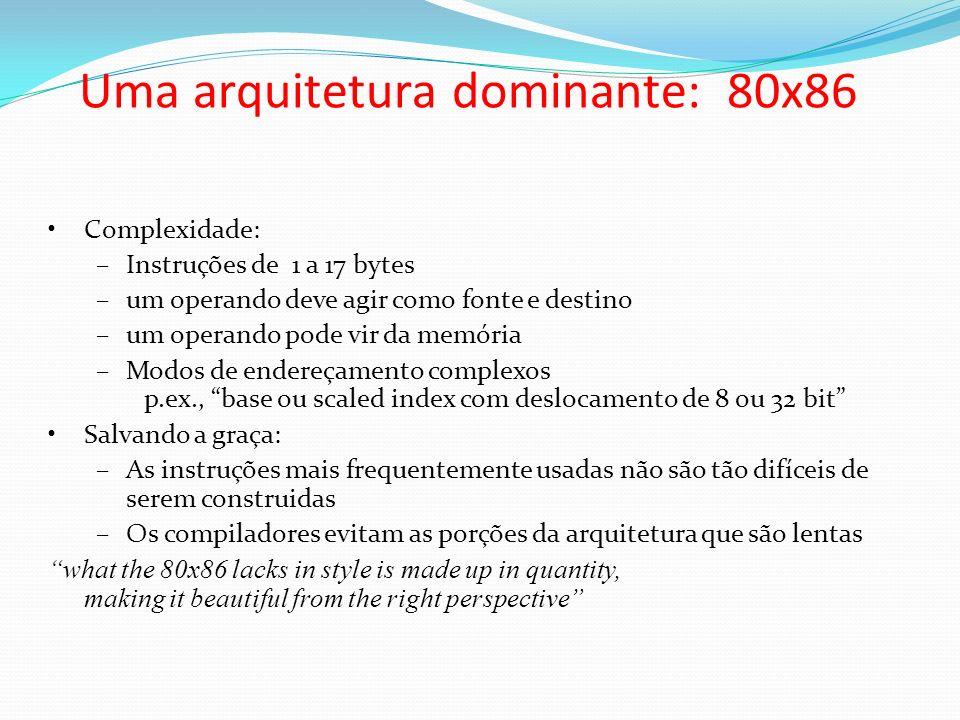 Uma arquitetura dominante: 80x86