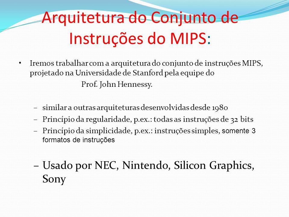 Arquitetura do Conjunto de Instruções do MIPS: