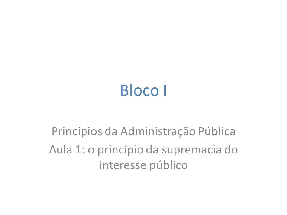 Bloco I Princípios da Administração Pública
