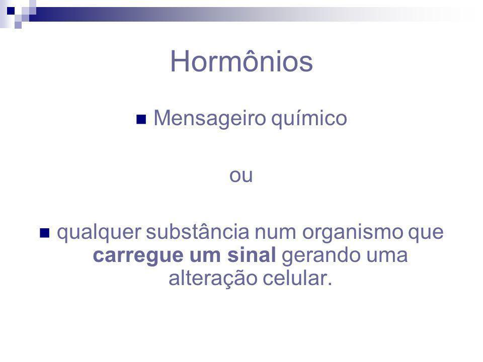 Hormônios Mensageiro químico ou