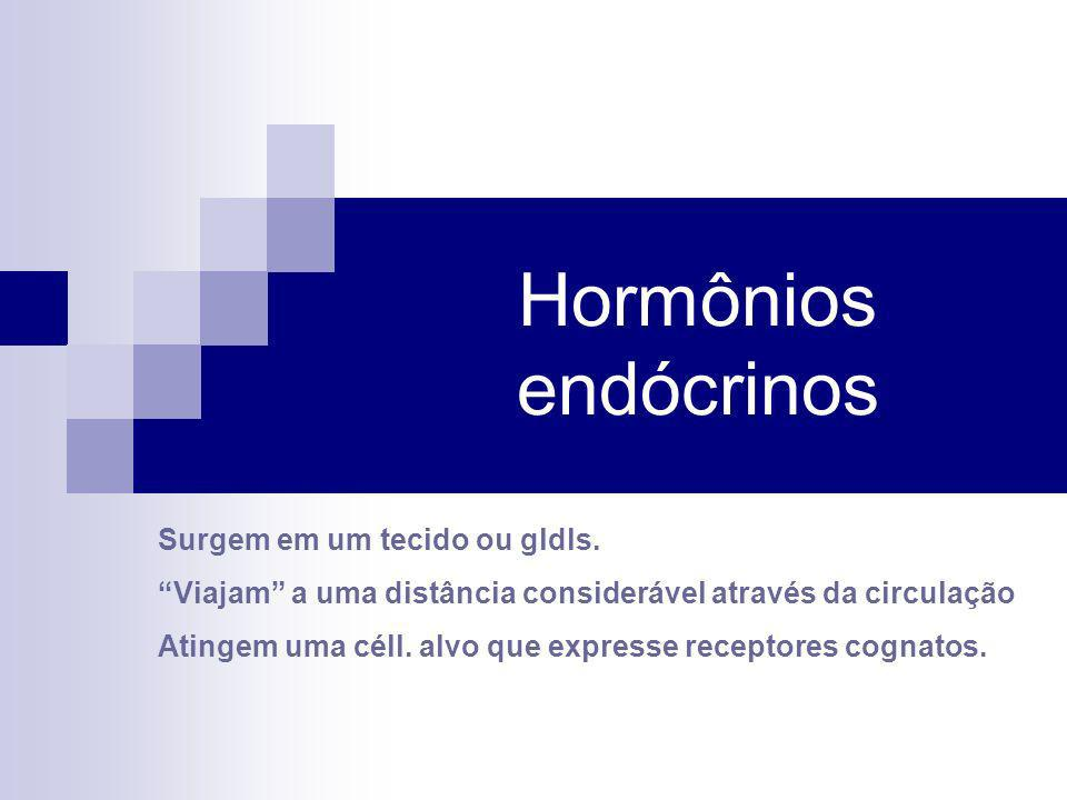 Hormônios endócrinos Surgem em um tecido ou gldls.
