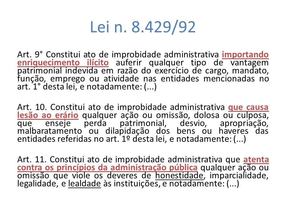 Lei n. 8.429/92
