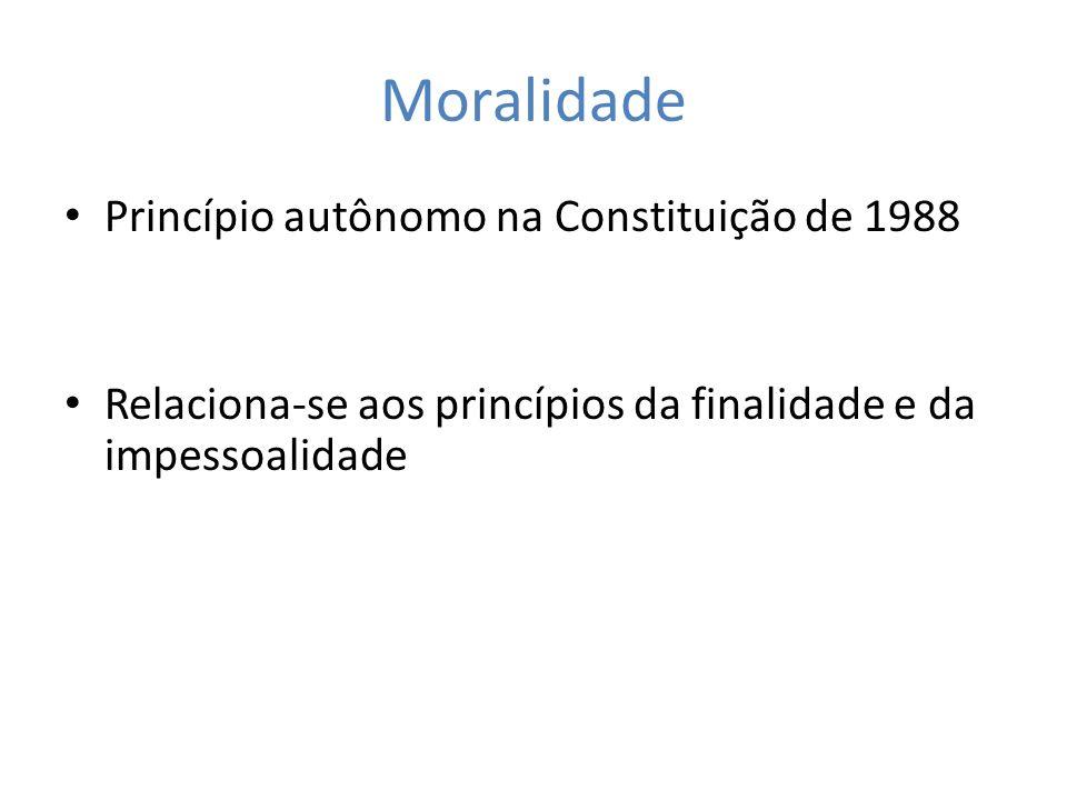 Moralidade Princípio autônomo na Constituição de 1988