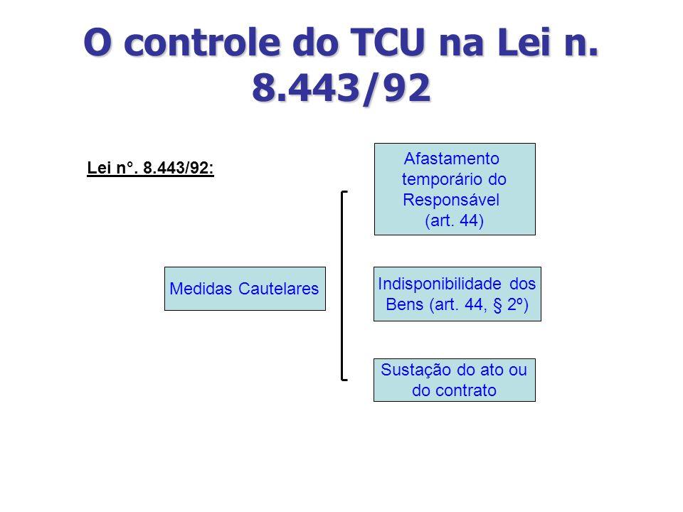 O controle do TCU na Lei n. 8.443/92