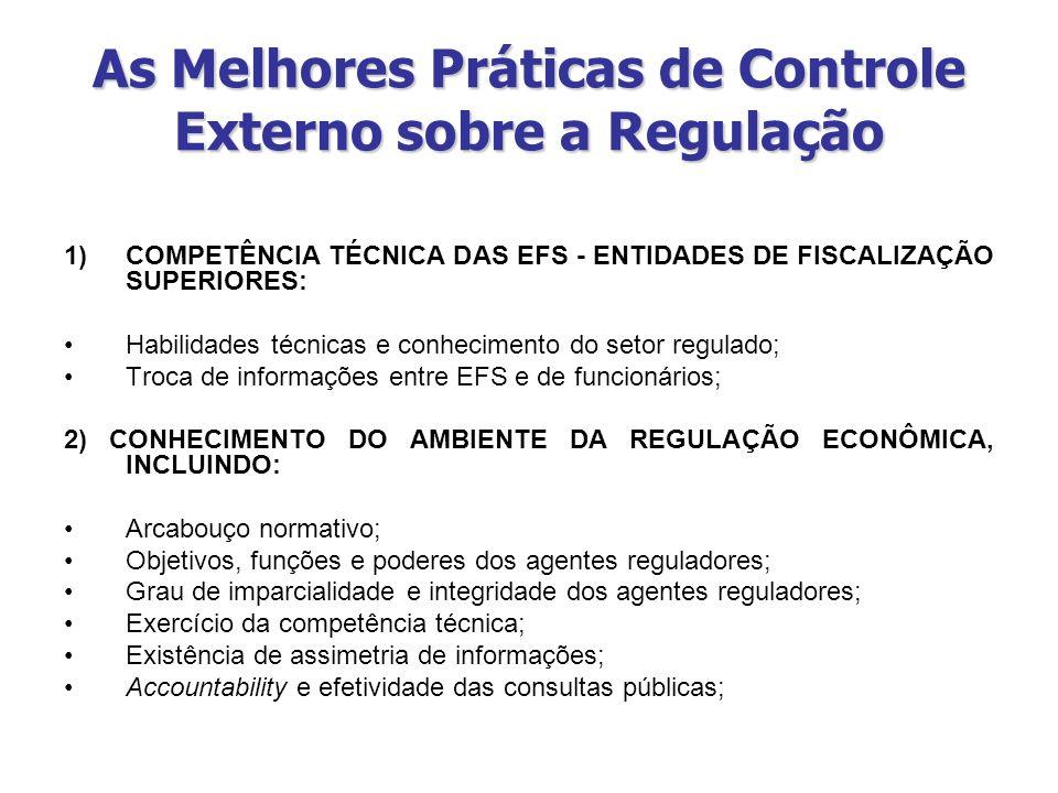 As Melhores Práticas de Controle Externo sobre a Regulação