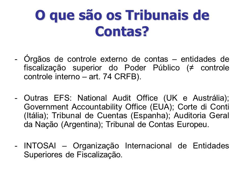 O que são os Tribunais de Contas