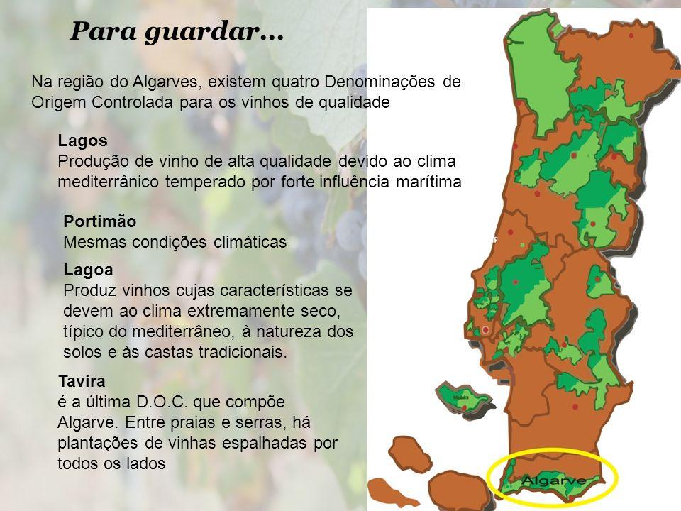 Para guardar... Na região do Algarves, existem quatro Denominações de