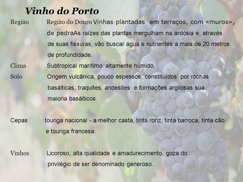 Vinho do Porto Região Região do Douro Vinhas plantadas em terraços, com «muros»,