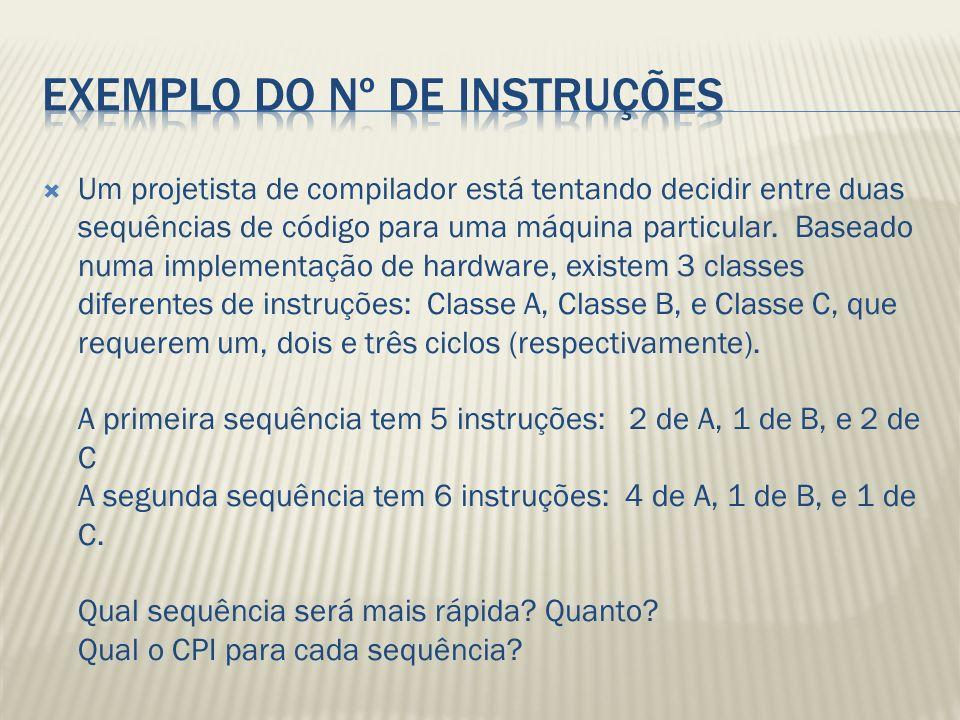 Exemplo do Nº de instruções