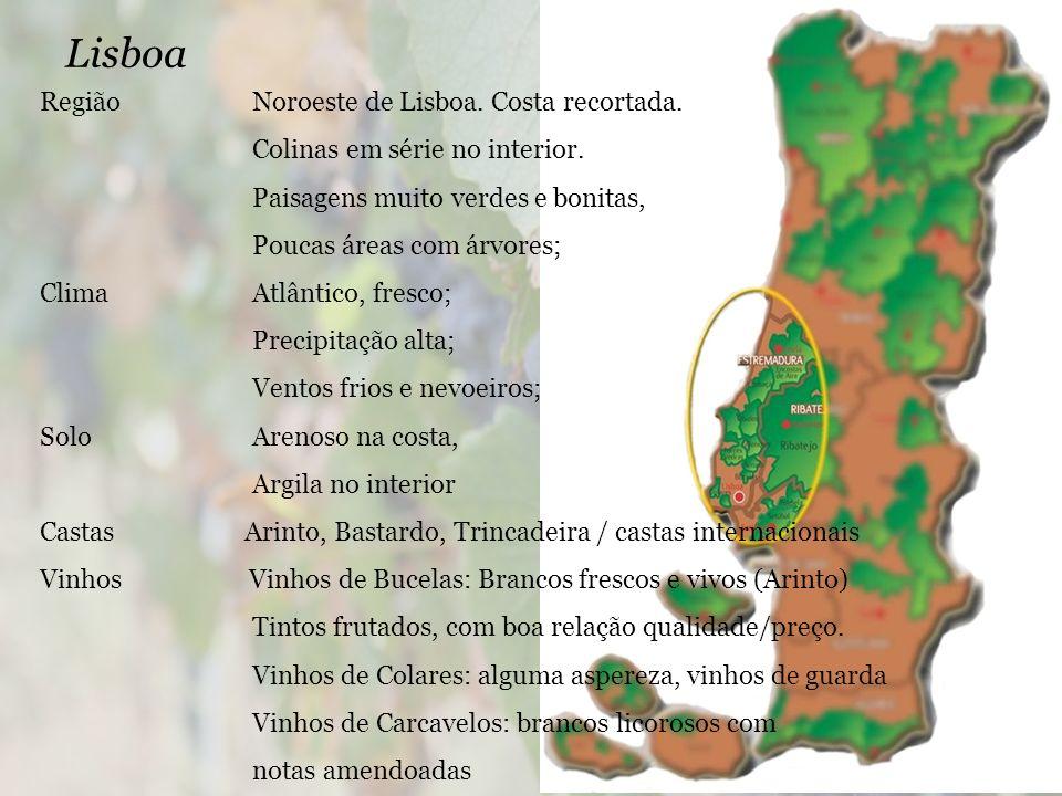 Lisboa Região Noroeste de Lisboa. Costa recortada.