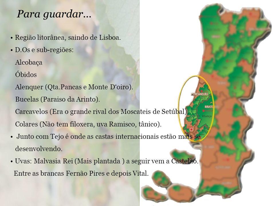Para guardar... Região litorânea, saindo de Lisboa.