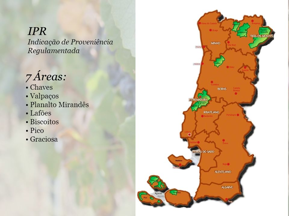 IPR 7 Áreas: Indicação de Proveniência Regulamentada • Chaves