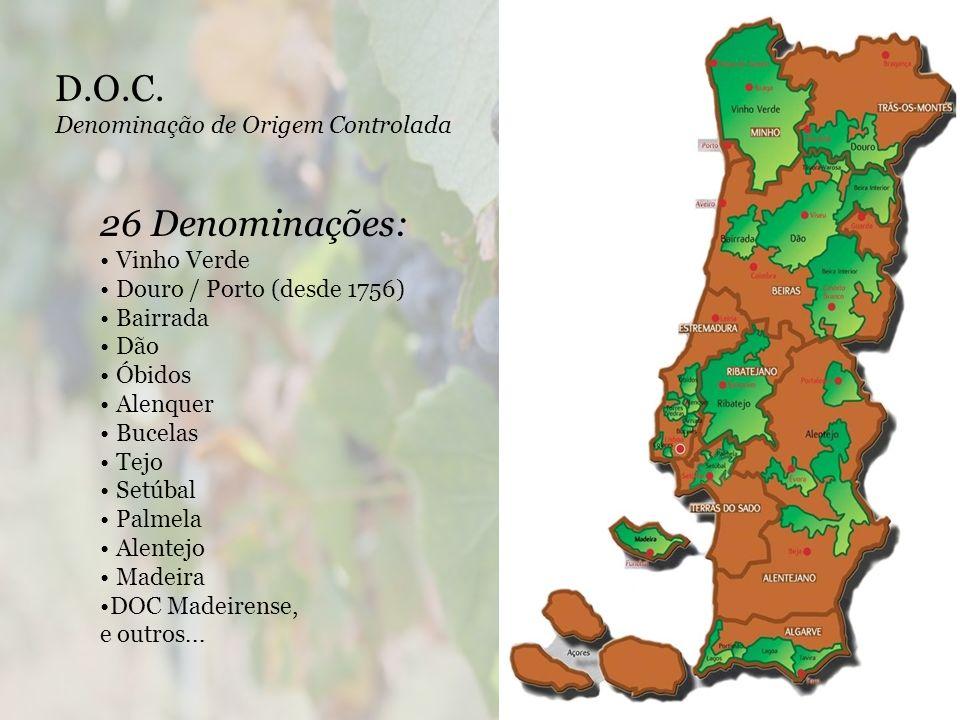 D.O.C. 26 Denominações: Denominação de Origem Controlada Vinho Verde