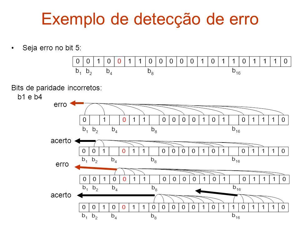 Exemplo de detecção de erro