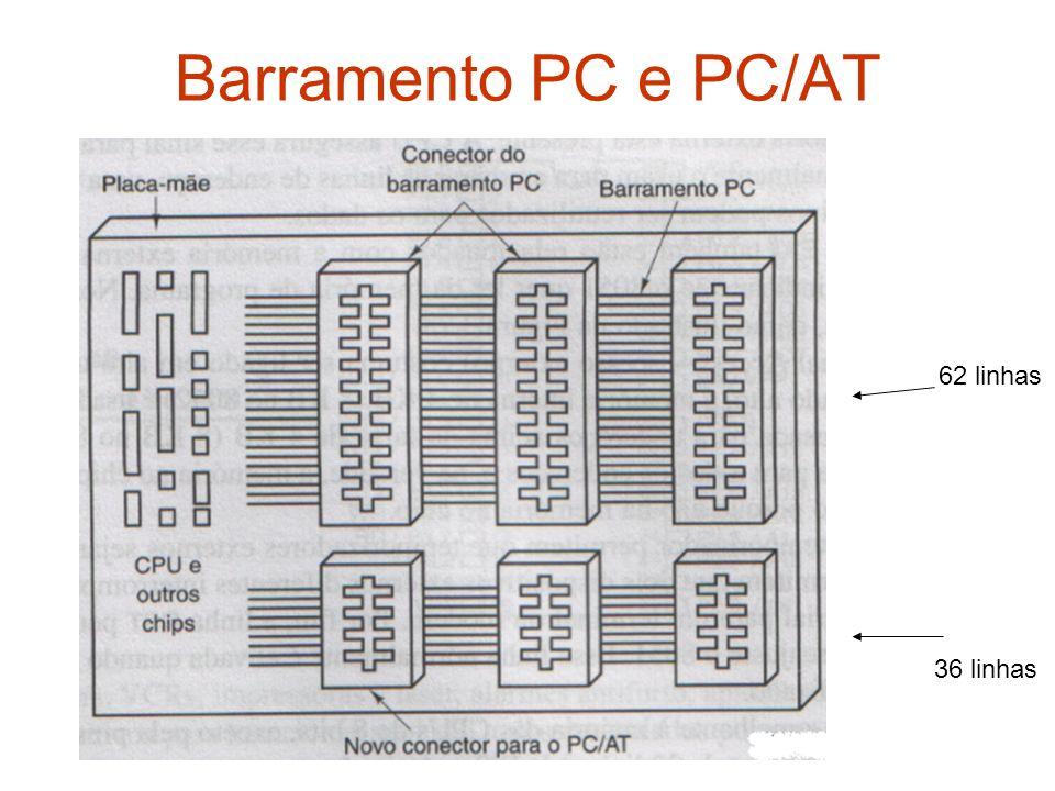 Barramento PC e PC/AT 62 linhas 36 linhas
