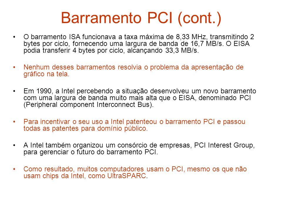 Barramento PCI (cont.)