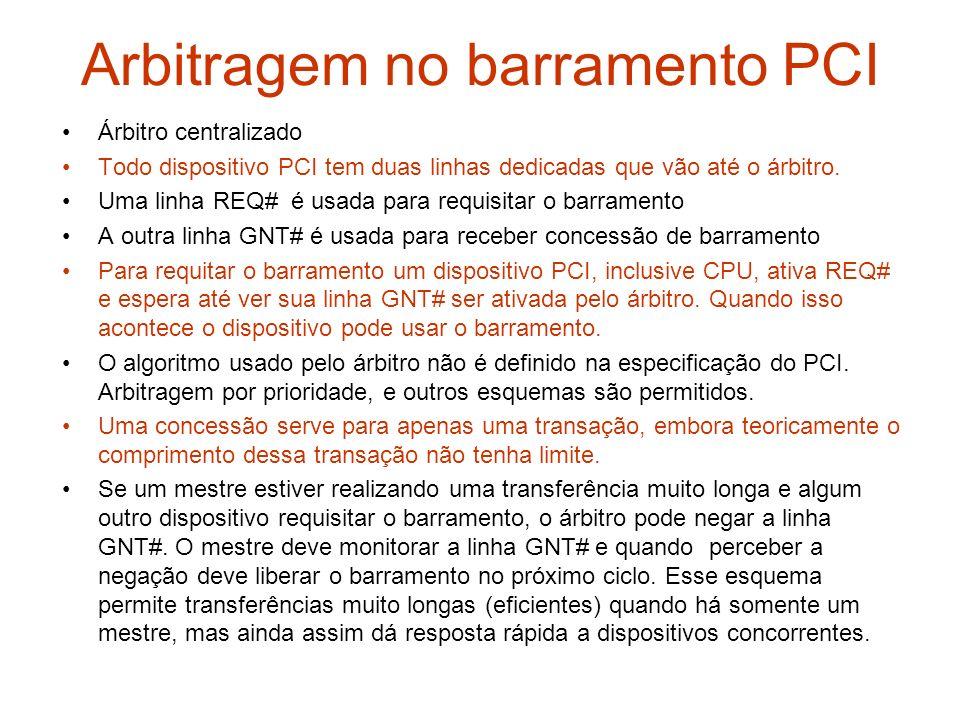 Arbitragem no barramento PCI