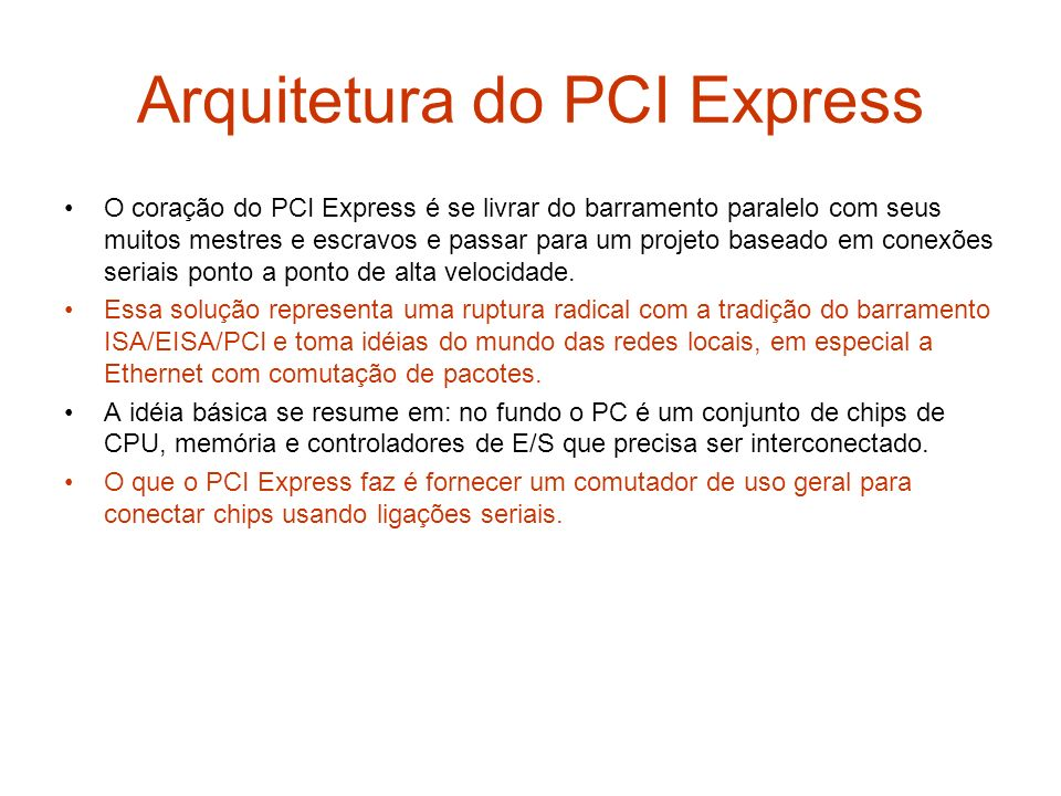 Arquitetura do PCI Express