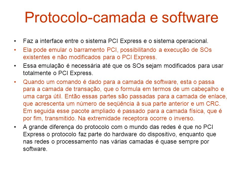 Protocolo-camada e software