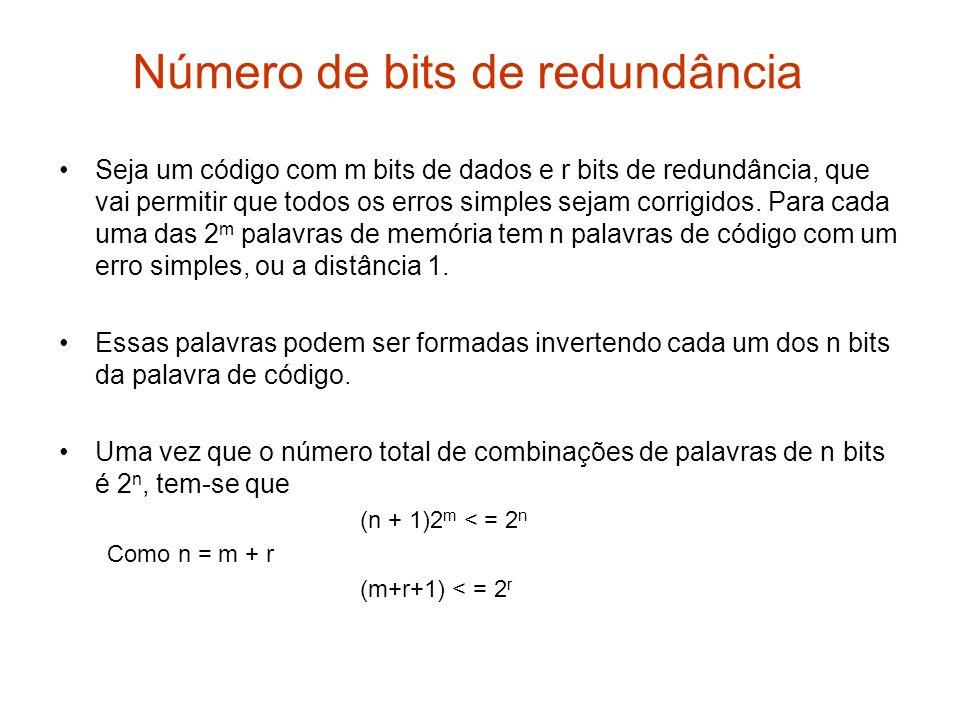 Número de bits de redundância