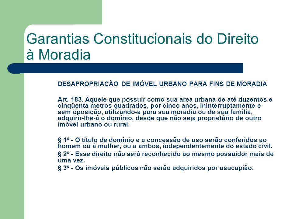 Garantias Constitucionais do Direito à Moradia