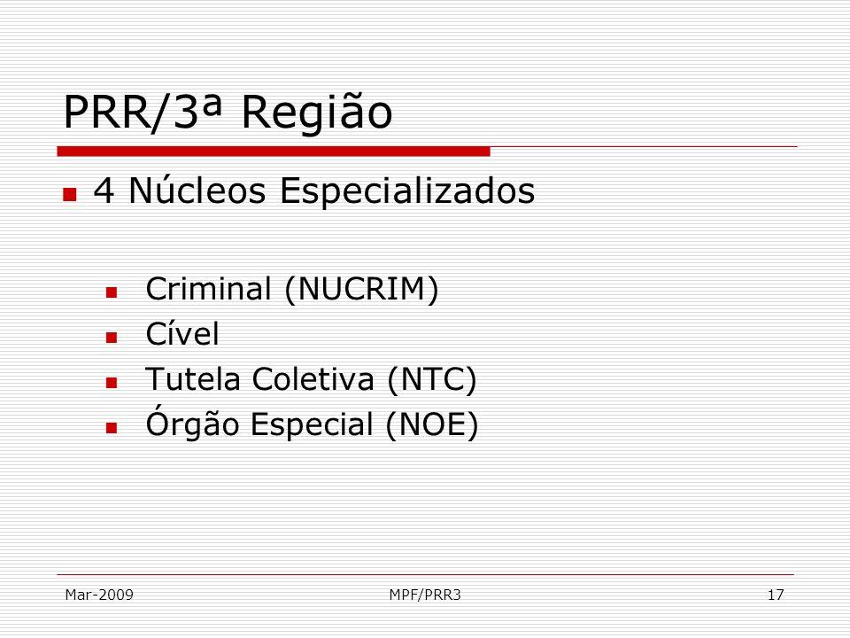 PRR/3ª Região 4 Núcleos Especializados Criminal (NUCRIM) Cível