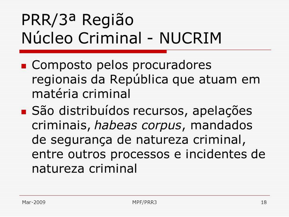 PRR/3ª Região Núcleo Criminal - NUCRIM