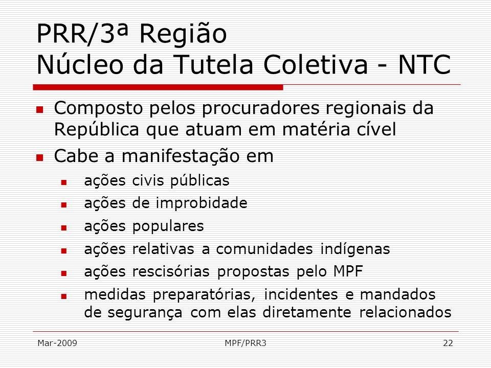 PRR/3ª Região Núcleo da Tutela Coletiva - NTC