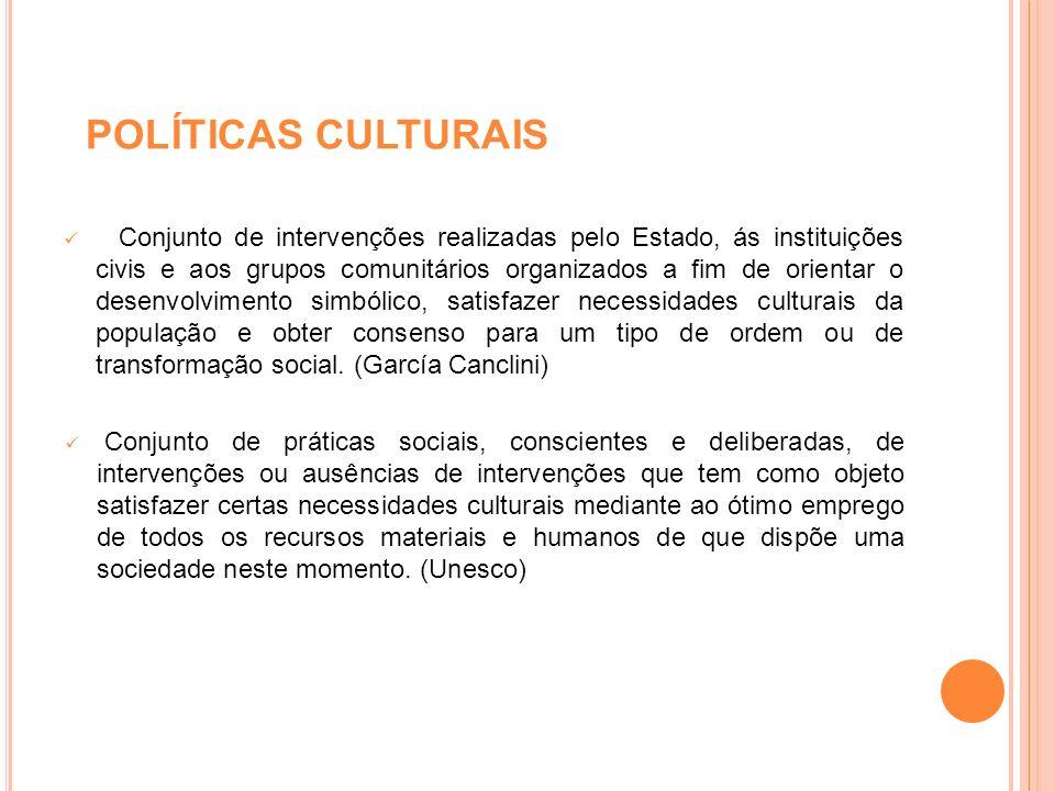 POLÍTICAS CULTURAIS