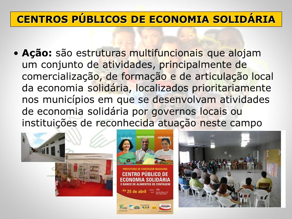 CENTROS PÚBLICOS DE ECONOMIA SOLIDÁRIA