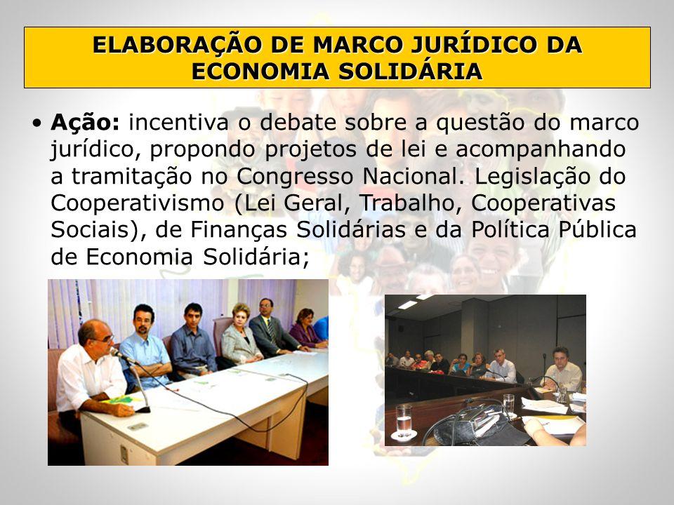 ELABORAÇÃO DE MARCO JURÍDICO DA ECONOMIA SOLIDÁRIA