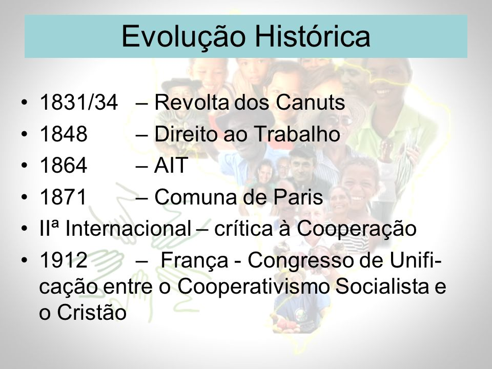 Evolução Histórica 1831/34 – Revolta dos Canuts