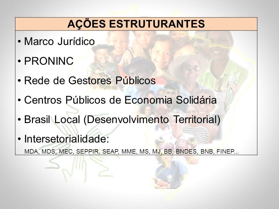 Rede de Gestores Públicos Centros Públicos de Economia Solidária