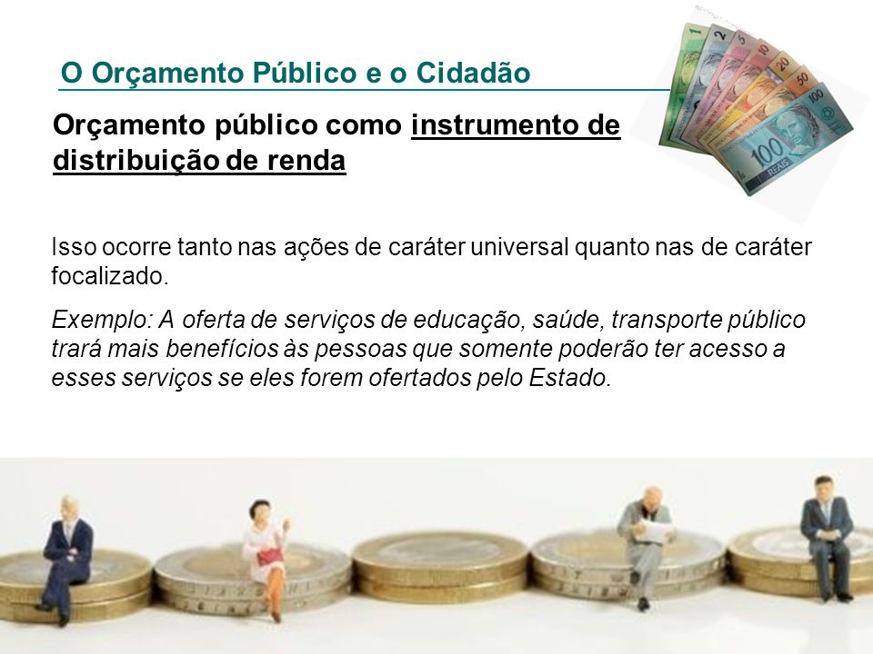 Orçamento público como instrumento de distribuição de renda