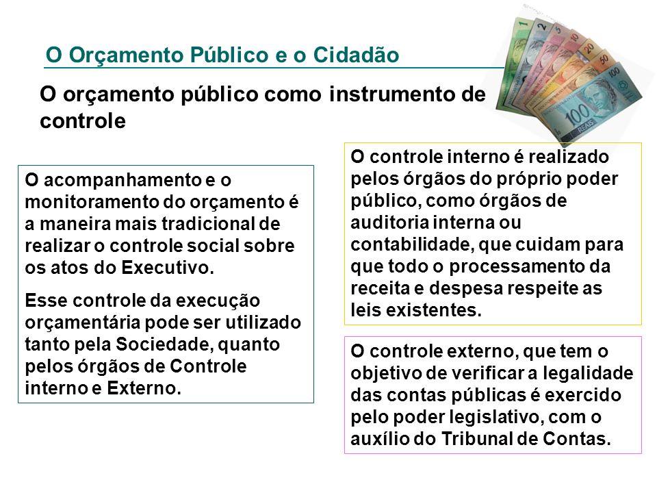 O orçamento público como instrumento de controle