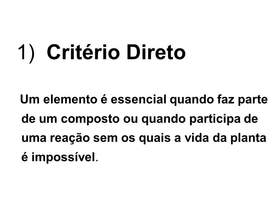 1) Critério Direto