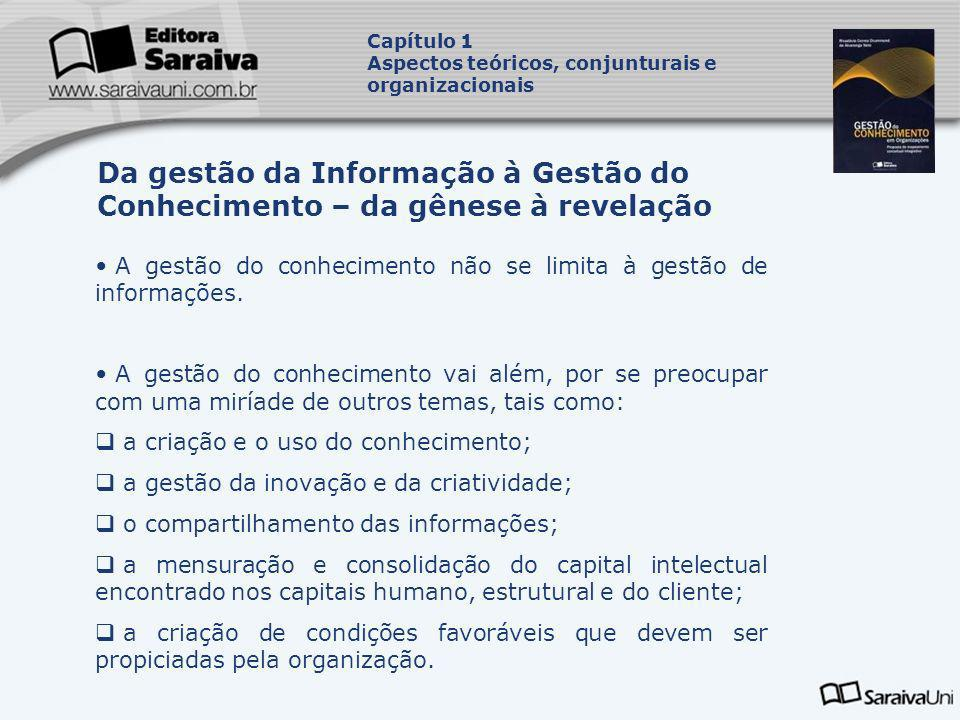 Capítulo 1 Aspectos teóricos, conjunturais e organizacionais. Da gestão da Informação à Gestão do Conhecimento – da gênese à revelação.