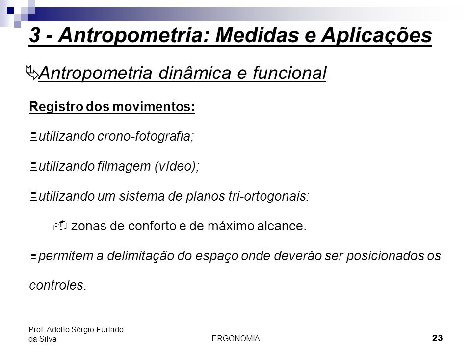 3 - Antropometria: Medidas e Aplicações