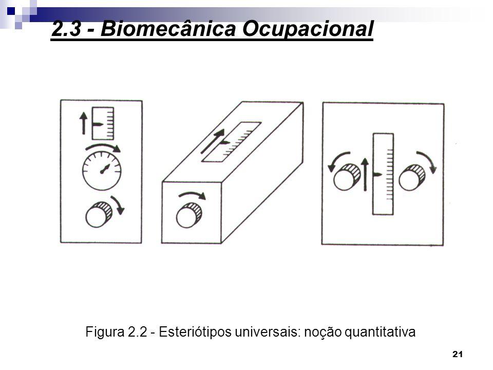 Figura 2.2 - Esteriótipos universais: noção quantitativa