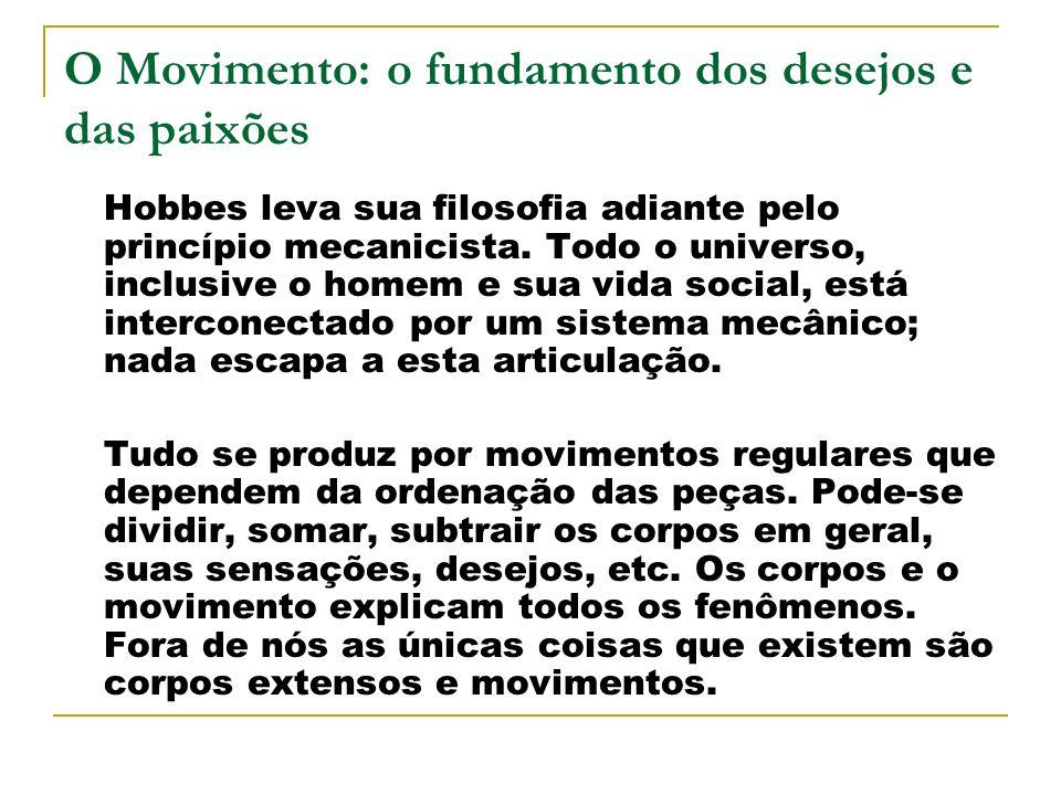 O Movimento: o fundamento dos desejos e das paixões