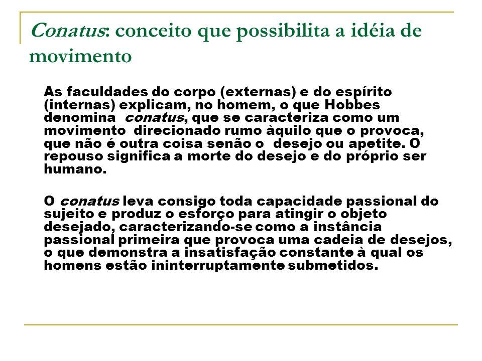 Conatus: conceito que possibilita a idéia de movimento