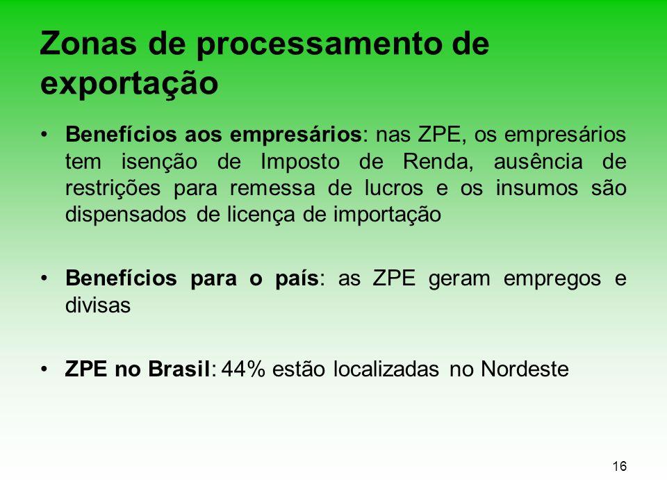 Zonas de processamento de exportação