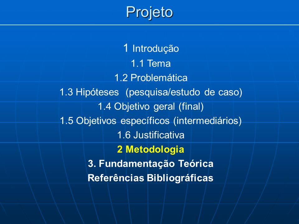3. Fundamentação Teórica Referências Bibliográficas