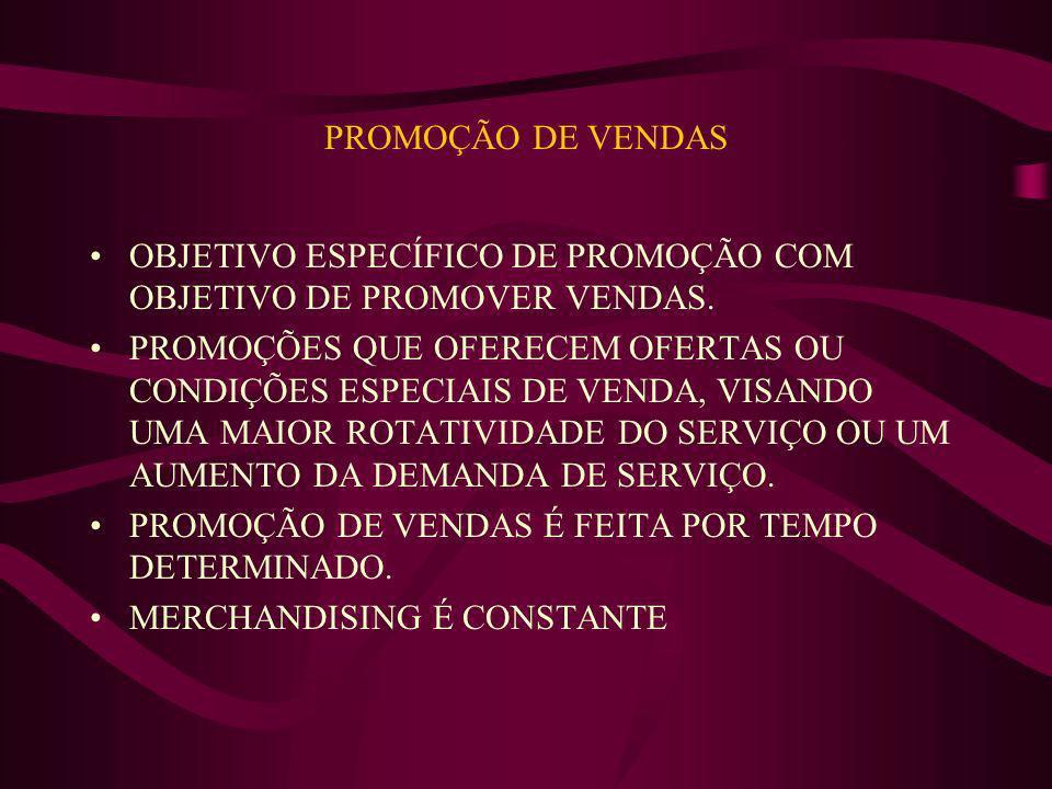 PROMOÇÃO DE VENDAS OBJETIVO ESPECÍFICO DE PROMOÇÃO COM OBJETIVO DE PROMOVER VENDAS.