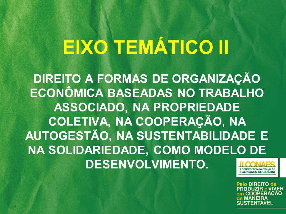 EIXO TEMÁTICO II